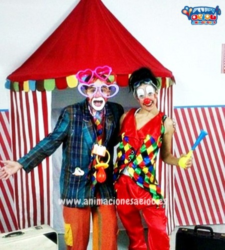 hire children's party entertainers in Barcelona clowns